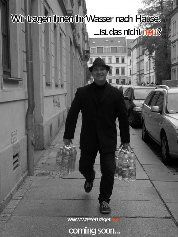 Titelbild zur Aktionskunst - Wasserträger - von Thomas Preibisch