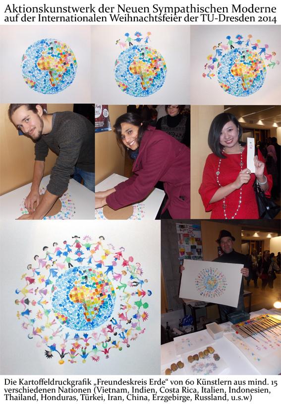 freundeskreis-erde-gemeinschafts-kartoffeldruck Kunst Kunstwerk von vielen Künstlern aus verschiedenen Ländern
