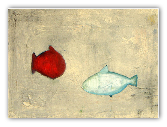Fischbild Öl auf Leinwand Malerei Fische