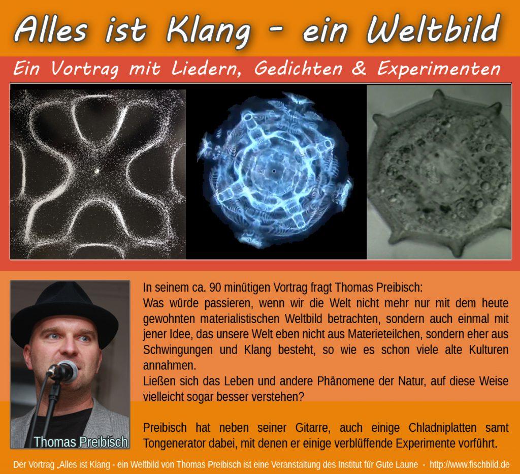 experimente cladniplatte cynematik vortrag filme leben eisenplatte sand klang ton Hz frequenz