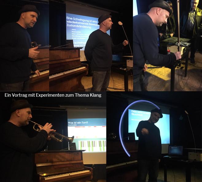 Experimente Klang Chladniplatten, cymatics, Geigenbogen, Trompete, Piano, Ton
