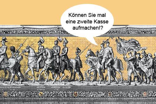 zeugt dresdner Fürstenzug in dresdner altstadt